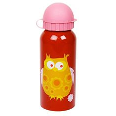 Blafre Owl Drinks Bottle Red. Beautiful bottle for your young ones. Perfect size to fit in their school bags and lunch boxes.  BPA Free - Toxin Free - Chemical Free - Lead Free - Liner Free - giving you the peace of mind that your kiddo's drinks will stay pure, clean and fresh every time. Find these amazing products on Northlight Homestore's Amazon storefront!
