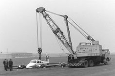 I was lucky enough to buy a collection of photographs connected to J.White a few years ago and this is one of the gems in that collection, what a fabulous combination a Coles crane and a split cab Foden . Wood Paneling, Crane, Aircraft, Photographs, Life, Memories, Places, Vintage, Collection