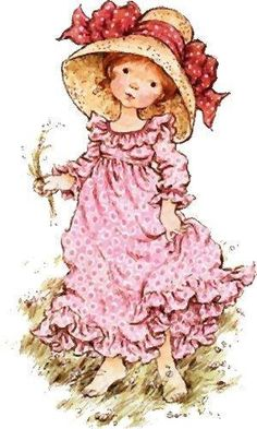 Betsey Clark, Holly Hobbie, Sarah Kay e outros Sarah Key, Holly Hobbie, Sara Key Imagenes, Australian Artists, Cute Illustration, Vintage Pictures, Vintage Cards, Vintage Children, Paper Dolls