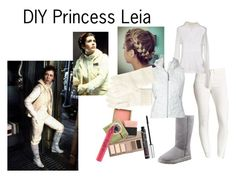 """DIY Princess Leia - Hoth"" by dheth ❤ liked on Polyvore featuring Flying Monkey, UGG Australia, Woolrich, Urban Decay, Benefit, tarte, Uniqlo and plus size clothing"