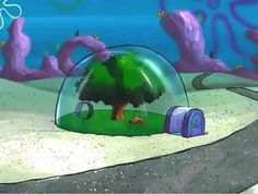 How did Sandy from SpongeBob SquarePants get her treedome house into the ocean in the first place?
