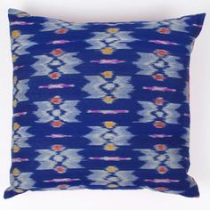 Ikat Pillow 16x16 Blue Red now featured on Fab.