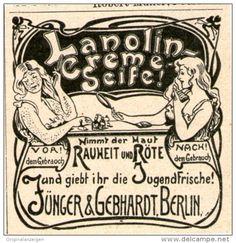 Original-Werbung/Inserat/ Anzeige 1902 :  LANOLIN-CRÈME-SEIFE ca 45 X 50 mm