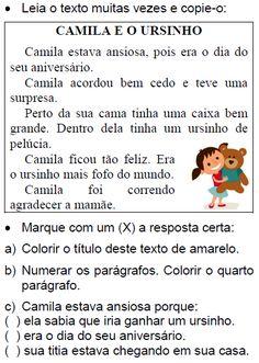 Texto CAMILA E O URSINHO