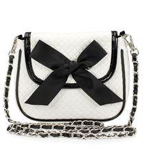 Pieces Bag Kira White (1.255 RUB) ❤ liked on Polyvore featuring bags, handbags, shoulder bags, purses, accessories, bolsas, bolsos, women, woven handbags and chain shoulder bag