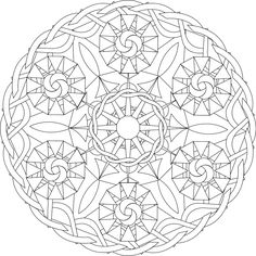Six Sisters A Free Printable Mandala Coloring Page Print From This