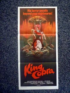 KING COBRA Original 1981 Australian Daybill Horror Movie Poster