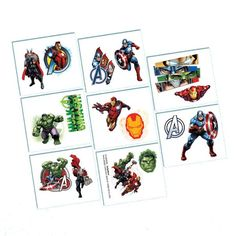 Avengers Assemble Temporary Tattoos 16ct