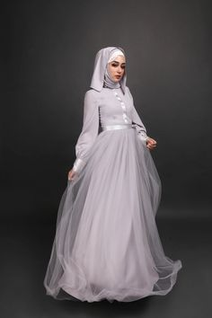 Maxi Grey dress tulle Grey Modest dress Muslimah abaya long maxi dress evening gown chiffon loose fit islamic islam clothing women eid ramadan bangkok tailor by ANNALINAR Grey Maxi, Gray Dress, Abaya Cape, Eid Ramadan, Modest Dresses, Prom Dresses, Abaya Fashion, Women's Fashion, Muslim Dress
