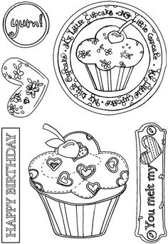 Foil Play - card making & paper craft supplies, free p&p when you spend over Cool Coloring Pages, Coloring For Kids, Coloring Books, Adult Coloring, Learning To Embroider, Cupcake Art, Cute Clipart, Card Sentiments, Tampons