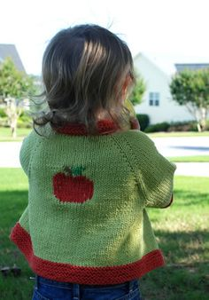 Free+Knitting+Pattern+-+Toddler+&+Children's+Clothes:+Them+Apples+Cardigan