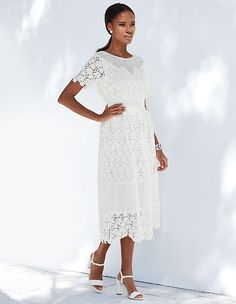 #madeleinefashion #sale Madeleine Fashion, Pretty Outfits, Pretty Clothes, Pure White, Summer Sale, Flare Skirt, Elegant, White Dress, Feminine