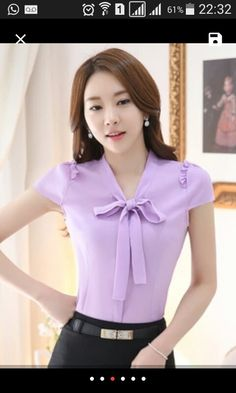 Tweed Outfit, Formal Tops, Chiffon Material, Fashion Leaders, Purple Fashion, International Fashion, Elegant Dresses, Couture Fashion, Nice Tops