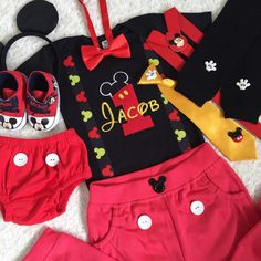 5-pc Set Mickey mouse Inspired Birthday by HaruHoneyBeeCreation