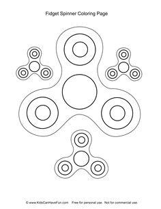Fidget Spinner Coloring Page http://www.kidscanhavefun.com/fidget-spinner-activities.htm #fidgetspinner
