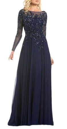 Juhabridal Long Sleeves Lace Mother of the Bride Dresses Formal Evening Gowns…