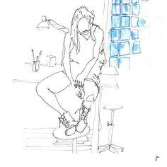 ATELIER D'ARTISTE #latelierdemesreves #illustration #drawing