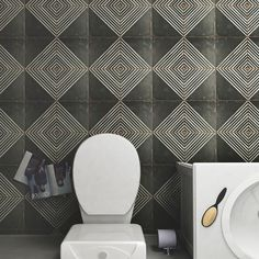 Looking for some retro bathroom wall tile ideas? Check out our Retro bathroom tile design from our Kings 17 3/4 x17 3/4 Patterned Tile collection. This tile design is encaustic-inspired and features a unique, low-sheen glaze. It retails starting at $9.99 SQ FT.