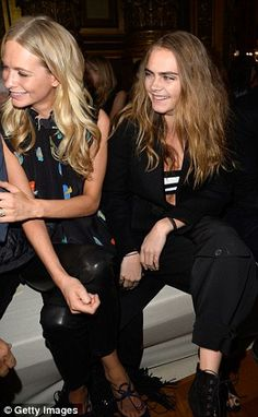 Poppy and Cara Delevingne - Stella McCartney Fall 2015 Front Row #PFW