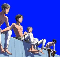 WTF DO THEY SEE, JEAN LOOKS WORRIED ,EREN LOOKS SURPRISED, CONNIE LOOKS LIKE HIS MOM JUST CAME BACK ,AND LEVI LOOKS REALLY DEPRESSED