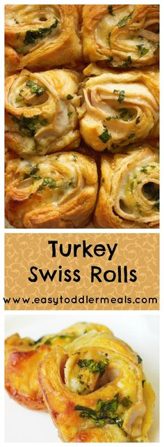 These turkey swiss rolls are quick to make, totally delicious and great for the whole family - plus, there's spinach in there for a healthy boost. Your toddler and kids will love them for lunch or dinner! #easytoddlermeals #lunch #dinner