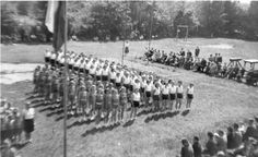 """Our """"Sokol Troja"""" groips in action - demonstrating exercises learned for the XI. Slet. I am there somewhere!"""