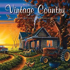 vintage country 2018 12 x 12 inch monthly square wall calendar featuring artwork by lynn garwood - Ausatmen Fans Ef34