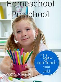 Homeschool Preschool Over 50+ resources to help you homeschool preschool!
