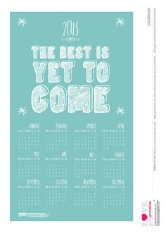 Free 2013 printable calendar! #printable #calendar #newyears
