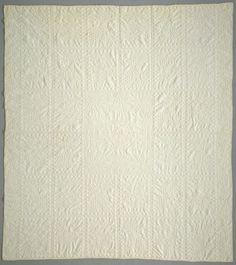 White-work quilt, cotton, N.Wagner, Texas 1901