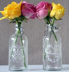 vintage bottles from #weddingofmydreams