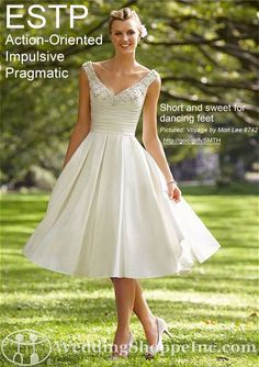 Wedding Style: Wedding Dress Shopping by Myers Briggs Personality Type: ESTP