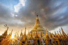 Shwedagon Pagoda - Shwedagon pagoda at sunset, Yangon Myanmar
