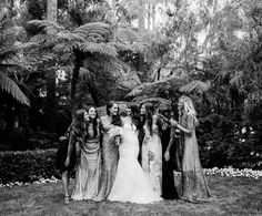 bride and her friends group portrait by gia canali