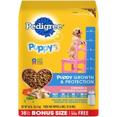 Contains one bag of PEDIGREE Puppy Growth and Protection Chicken & Vegetable Flavor Dry Dog Food. Contains One Lb. Bag Of Pedigree Puppy Growth & Protection Dry Dog Food Grilled Steak & Vegetable Flavor. Healthy Brain, Healthy Teeth, Chicken Flavors, Chicken Recipes, Best Puppy Food, Dog Food Reviews, Dog Branding, Complete Nutrition, German Shepherd Dogs