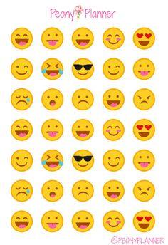 Emoticonos Emoji planificador pegatinas   Erin Condren, Kikki K, A5, Personal                                                                                                                                                                                 Más