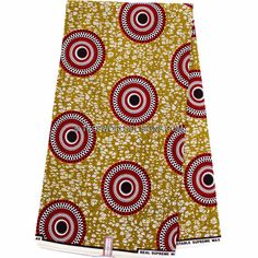 Wholesale Best Supreme Wax Holland Red Brown/Olive Wax Print Fabric/ Ankara fabric/ African fabric Shop/African Fabric/ 6 yards  WP752