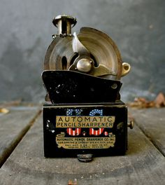 RARE Vintage pencil sharpener made by the U.S. Automatic Pencil Sharperner Co. on Etsy, $299.99