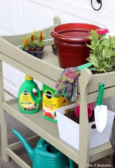 s here s why you shouldn t throw out your old changing table, painted furniture, repurposing upcycling, It s the perfect potting bench Repurposed Items, Repurposed Furniture, Painted Furniture, Dresser Repurposed, Repurposed Wood, Diy Outdoor Furniture, Baby Furniture, Children Furniture, Furniture Ideas