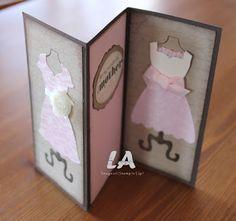 Tri-fold dress card - folde kort