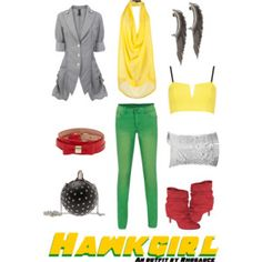 A wearable feminine #Hawkgirl #outfit I created, inspired by the #DCComics character. #geek #fashion