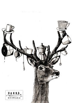 "hang anything from the antlers...and we can have ""cabin tea""!!!  m"