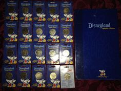 Disneyland Medallion Collection 20 Coins and 1 Collector's Map NEW Unopened