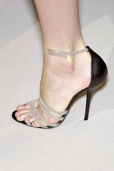 Givenchy Fall 2007 Couture two tone sandals