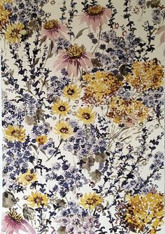 Lourdes Sanchez, untitled flowers 7 2013, watercolor