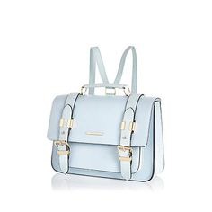 Women's sale - check out River Island's latest sale items available online. Satchel Backpack, Beautiful Bags, New Outfits, Sale Items, River Island, Fashion Backpack, Purses And Bags, Light Blue, Fashion Accessories