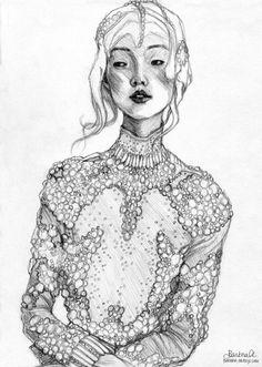 Fashion drawing - beautiful fashion illustration // Barbra Araujo