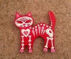 Sugar skull cat