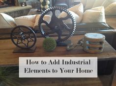 Adding industrial elements in home decor. Loving the industrial/rustic mix in decor right now! I know you love industrial derek! Industrial House, Rustic Industrial, Industrial Furniture, Decorating Tips, Interior Decorating, Steampunk, Do It Yourself Home, Diy Furniture, Furniture Vintage