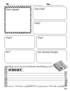 Non fiction text response graphic organizer can be used with any informational text and hits second 2nd Grade Writing, 5th Grade Reading, Third Grade, Reading Skills, Teaching Reading, Reading Response, Reading Activities, Learning, Graphic Organisers
